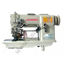 Промышленная швейная машина «мережка» J-1721PK Aurora с задним пулером и ножом обрезки