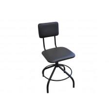 Стул винтовой с квадратными спинкой и сиденьем (кожзам)