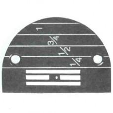 Игольная пластина 147150LGW белая (1,8мм, д/ср.тк., р149057).