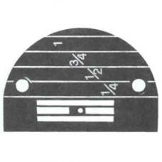 Игольная пластина 147150LGB черная (1,8мм, д/ср.тк., р149057).